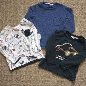 Bundle Of Boys Long Sleeve Shirts